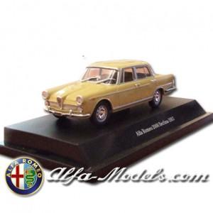 Alfa Romeo 2000 1957 yellow