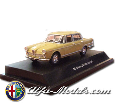 Alfa Romeo 2000 1957 yellow
