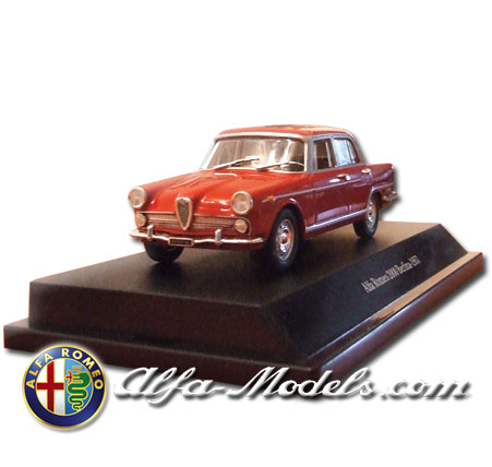 Alfa Romeo 2000 1957 red
