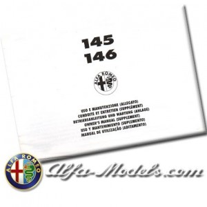 Alfa Romeo 145 / 146 Owners Manual Supplement