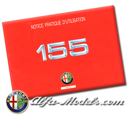 Alfa Romeo 155 Quick Reference Manual 1992