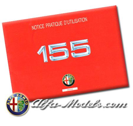 Alfa Romeo 155 Quick Reference Manual 1992