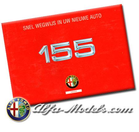 Alfa Romeo 155 Quick Reference Guide 1993